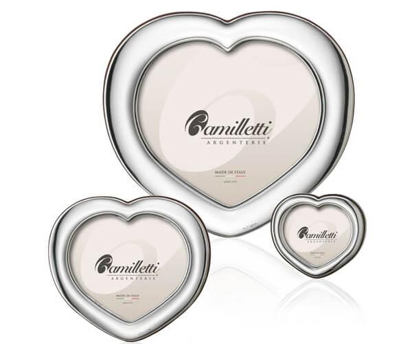 Cornici in argento a forma di cuore, 3 misure