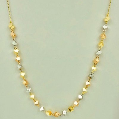 Collier in 18 kt white gold with gold inserts. On offer